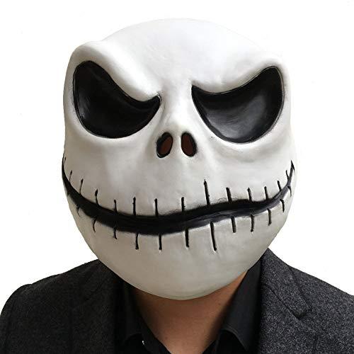 Halloween Before Christmas Meme (Herocos Horror Jack Cosplay Doll Latex Mask, Skellington Masquerade Costume Mask Halloween Costume Props)