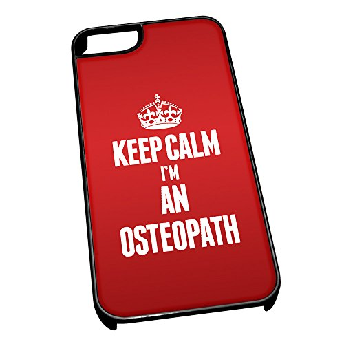 Nero cover per iPhone 5/5S 2639rosso Keep Calm I m An osteopata