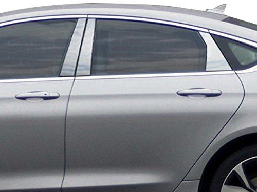 QAA FITS 200 2015-2017 Chrysler (6 Pc: Stainless Steel Pillar Post Trim Kit, 4-door) PP55781 Quality Auto Accessories