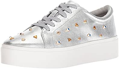 Katy Perry Women's The Dylan Sneaker, Silver, 5 M Medium US