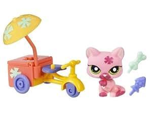 Littlest Pet Shop Mascotas on the Go Cat - Con Bici # 1846
