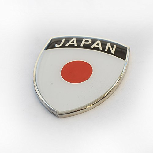 "Amazing Japan Japanese Show Quality Metal Decorative Emblem Decal Ornament 1.5"" tall"