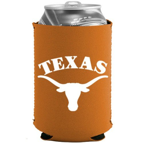 NCAA Texas Longhorns Can Holder Orange Sports Fan Cold Beverage Koozies, Team Color, One Size