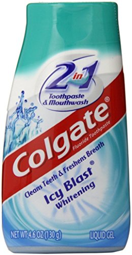 Colgate 2 in 1 Whitening Toothpaste Icy Blast Pack of 5