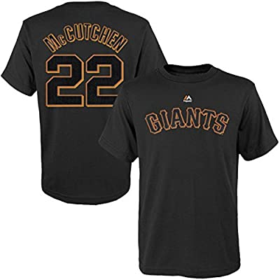 OuterStuff Andrew McCutchen San Francisco Giants #22 Youth Player T-Shirt Black