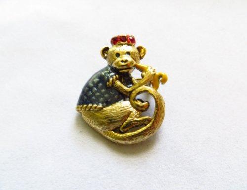 Abu Monkey Costume (Danecraft Gold - Plated Monkey Pin Brooch)