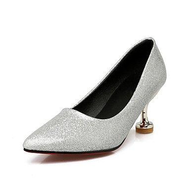 Talones de las mujeres de primavera y verano de cuero Otro vestido de tacón de aguja Otros Negro Rojo Plata Oro Silver