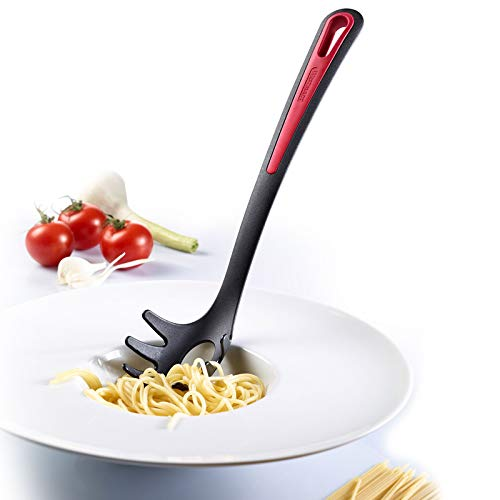 Westmark Germany Non-Stick Thermoplastic Spaghetti Server, 12-inch (Red/Black)