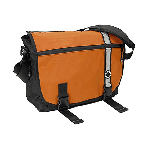 aper Bag - Orange Retro Stripe (Mens Dadgear Messenger)