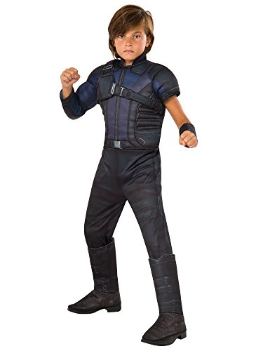 Good Morning America Costumes - Rubie's Costume Captain America: Civil War Hawkeye Deluxe Muscle Chest Child Costume,