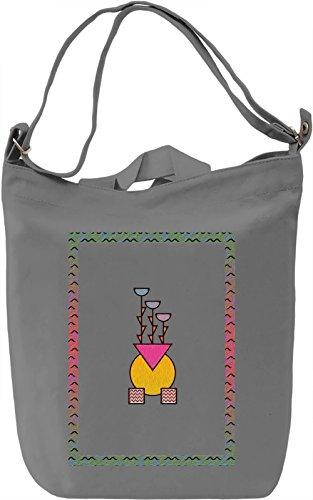 Vivid 90's Flowers Borsa Giornaliera Canvas Canvas Day Bag| 100% Premium Cotton Canvas| DTG Printing|