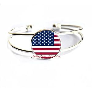 Charming American Flag Print Bracelet