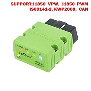 SaiDeng KW902 OBDII OBD2 Bluetooth 3.0 Mini Wireless Car Code Reader Auto Diagnostic Scanner Supports Android & Windows Software Free - Green