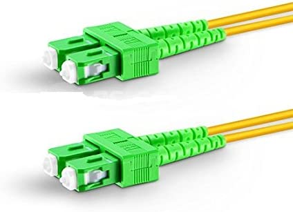 27m, 3.0mm Fiber Optic Cable SC//APC to SC//APC Singlemode Duplex 2.0mm//3.0mm Outer Diameter OS2 9//125mm Fiber Optic Patch Cord Length Options 0.5M-200M