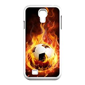 New Fashion Hard Back Cover Case for SamSung Galaxy S4 I9500 with New Printed Fire Football Soccer ball