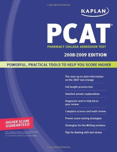 Kaplan PCAT 2008-2009: Pharmacy College Admission Test