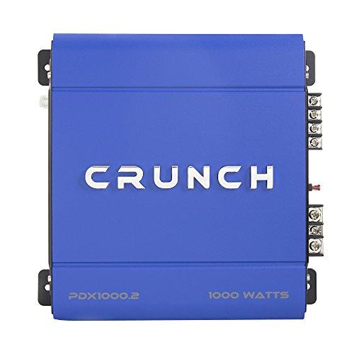 Crunch PowerDriveX 1000W 2 Channel Blue A/B Car Amplifier + 4-Gauge Wiring Kit by Crunch (Image #2)