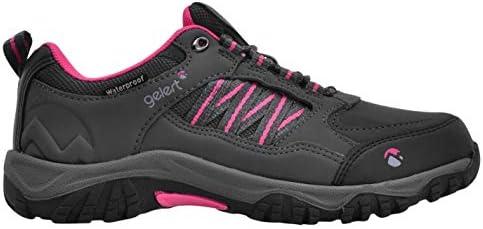 US3.5 EU35.5 Gelert Horizon Low Waterproof Walking Shoes Girls Trainers Charcoal Footwear UK3