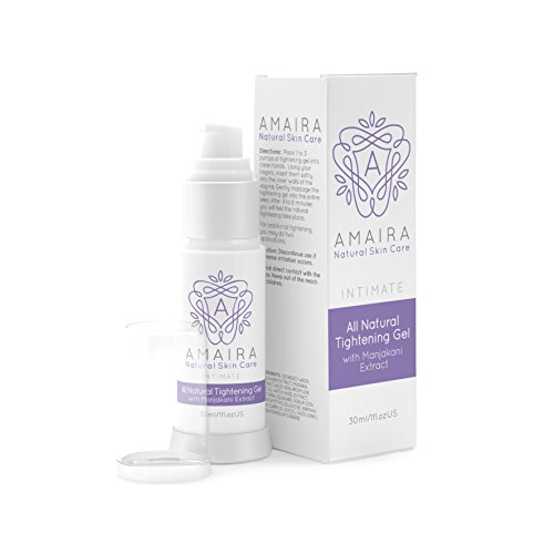 Vaginal Tightening Gel with Manjakani Extract Firming Feminine Cream, Intimate Personal Care Provides Odor-Free Lubrication 30ml by Amaira