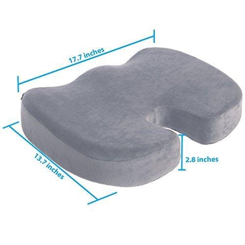 Coccyx–Cojín para asiento de espuma de memoria Ortopédica para dolores de espalda Alivio del Dolor y Ciática y...