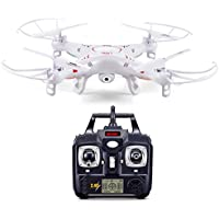 YYGIFT 2.4GHz 6-Axis Gyro 360-degree Eversion Video RC Quadcopter Drone UFO with 2MP HD Camera and LED Lights