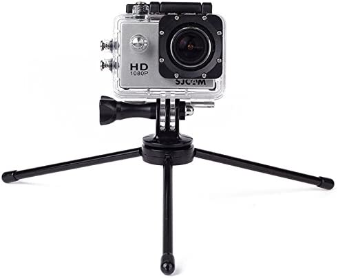 //3//2 //1 Xiaoyi and Other Action Cameras Durable JINGZ Portable Folding Metal Tripod for GoPro New Hero //HERO6 //5//5 Session //4 Session //4//3