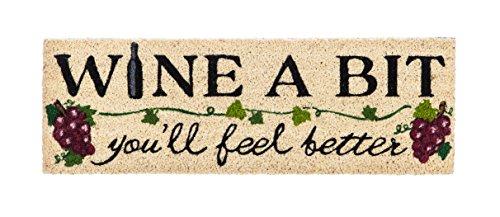 Evergreen Wine a Bit Kensington Natural Coir Interchangeable Switch Mat - 28.25''W x 9.25''H … by Evergreen Flag