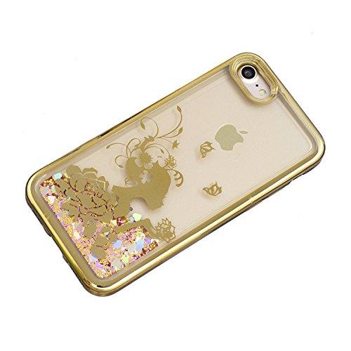 Vandot Funda para iPhone 6 Plus Brillante Caso Shell, Ultrafino Fluido Líquido Cristal Caso Bling Arena Movediza Patrón TPU Silicona Cubierta de la Caja del Teléfono para iPhone 6 Plus / 6s Plus 5.5,  CH LS 07