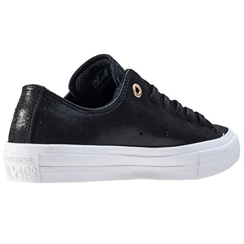 Converse Chuck Taylor All Star II Black Leather Trainers Black