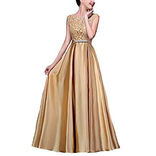 Satin Long Dress: Amazon.com