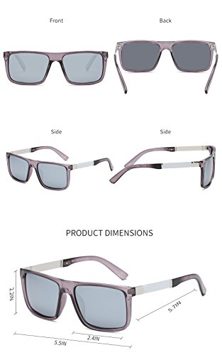 6d168c98437 DONNA Trendy Oversized Square Aviator Polarized Sunglasses Style with Big  Unbreakable Frame and Anti-glare