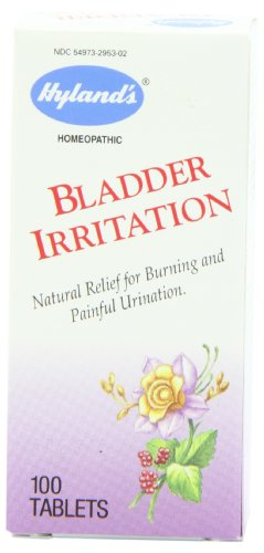 Hyland's Bladder Irritation Relief Tablets, Natural Homeopathic Relief for Buning and Painful Urination, 100 - 100 Tab Irritation Bladder