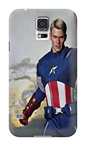 The best selling shock absorption bumper tpu cases/cover with texture for Samsung Galaxy s5 of Avengers Captain America in Fashion E-Mall