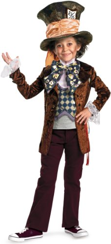 Mad Hatter Costume Makeup (Mad Hatter Dlx Child Costume)