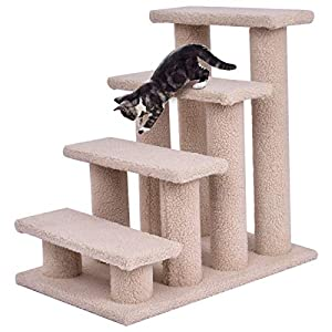 Tangkula Pet Stairs Ramp for Cats and Dogs Cat Climber Kitten Steps 5