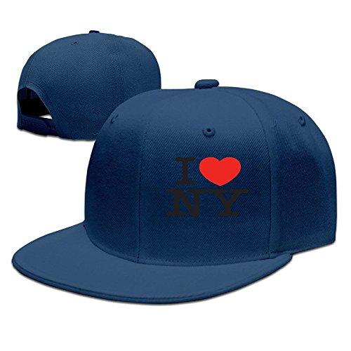 Price comparison product image SSEE Unisex-Adult I Love NY Heart New York Snapback Baseball Visor Cap Navy