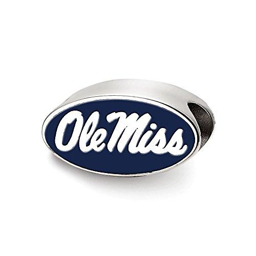 University of Mississippi Enameled Logo Bead