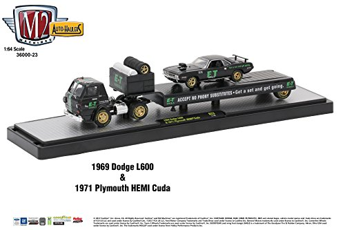 426 Hemi Cuda (M2 36000-23 Auto Haulers Release 23, 3 Trucks Set 1/64 Diecast Models Machines)