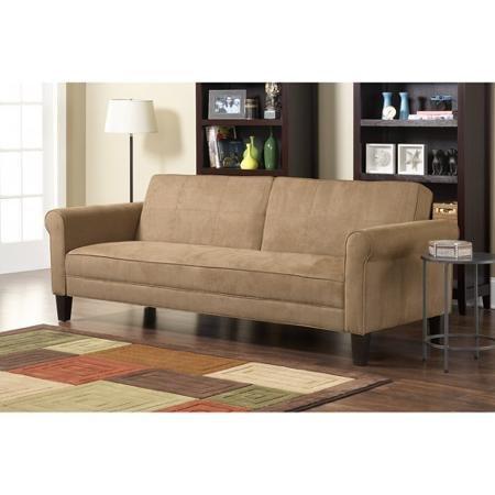 Ashton Microfiber Sleeper Sofa Tan Sofas and Couches