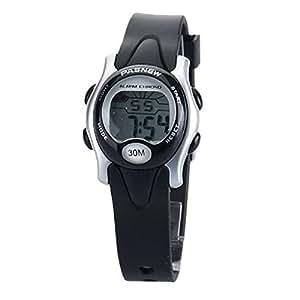 PIXNOR PASNEW PSE-243 niños impermeables LED Digital deportes reloj de pulsera (negro)