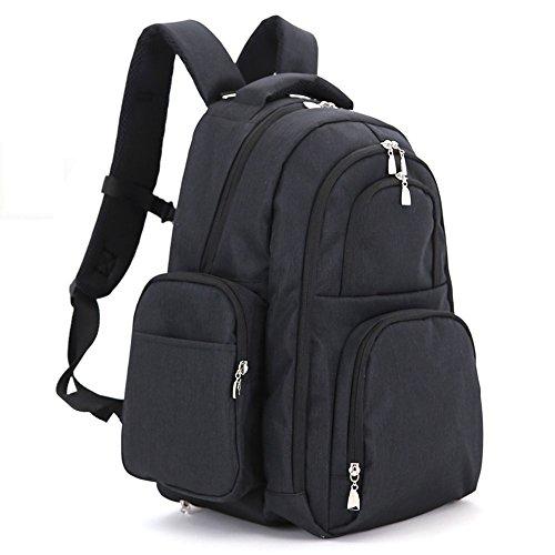 Bolsa de la momia, bolso de hombro, de gran capacidad de múltiples funciones bolso de la madre de la moda, bolsa de la madre y el bebé, salir a producir mochila ( Color : Rosa Roja ) Negro