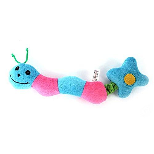 CHOUWUED Cute Ladybug Type Dog Toy Pet Puppy Plush Sound Squ