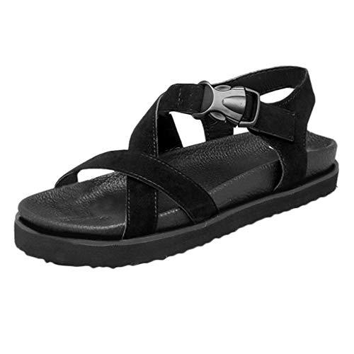 Scarpe Eleganti Nero Da Partito Con Estivi Lanskrlsp Sandali Spiaggia Lacci Donna Romana RqWX7
