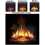 LXDDP-Riscaldamento-della-Stanza-della-Stufa-elettrica-con-Effetto-Fiamma-3D-Realistico-Termostato-di-Sicurezza-Riscaldamento-Camino-Camini-Stan-gratuiti-Colore-della-Fiamma-e-velocita-Regolabili