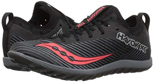Saucony Women's Havok XC2 Flat Cross Country Running Shoe, Black/Grey/ViziRed, 5 M US by Saucony (Image #6)
