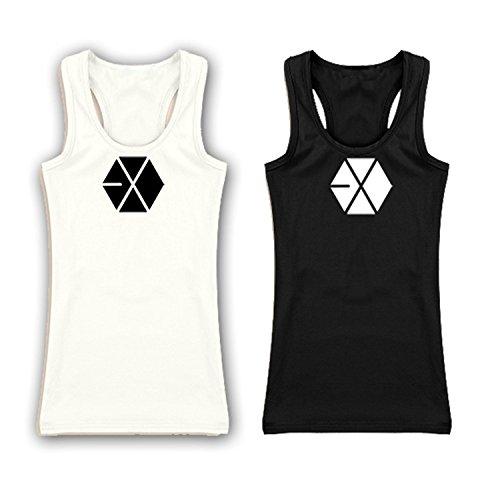 Fanstown Kpop accessories tanktop sleeveless shirt EXO Shinee B.A.P Bigbang(2 pcs) (EXO)
