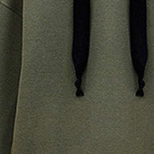 HEFYBA Kapuzenpullover Damen Schlichter Seitlicher Reißverschluss Sweatshirt Kordelzug Dicke Herbst- Und Wintersportbluse (EU 40, Armeegrün)