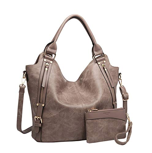 - Women Tote Bag Handbags PU Leather Fashion Hobo Shoulder Bags with Adjustable Shoulder Strap