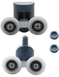 8Pcs Double Shower Door Rollers/Runners/Wheels TOP or BOTTOM 23mm Wheel Dia