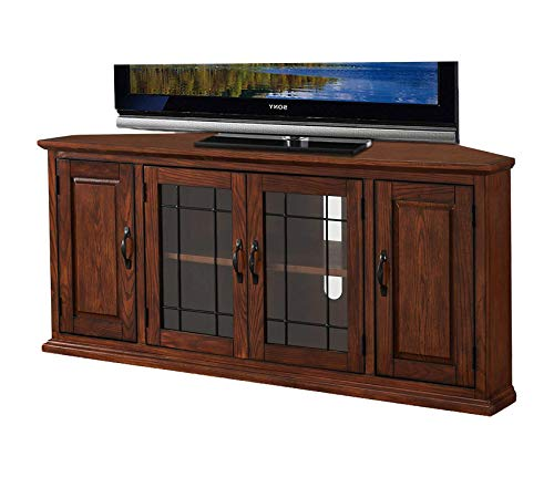 - Deluxe Premium Collection Riley Holliday Corner TV Stand Burnished Oak Decor Comfy Living Furniture